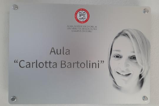 Aula intitolata alla collega Carlotta Bartolini